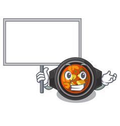 Bring board kimchi tighe served in mascot bowl vector