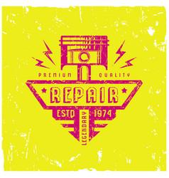 car service badge in retro style vector image