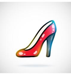 Cartoon red shoe vector image