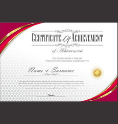 Certificate or diploma retro vintage template 3 vector