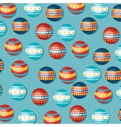 circus balloons pattern background vector image