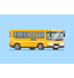 City bus in modern flat style vector