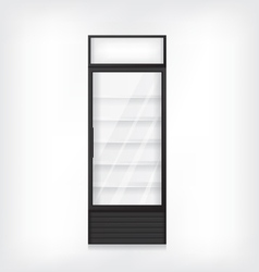 Commercial refrigerator vector image