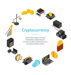 cryptocurrency mining blockchain banner card vector image