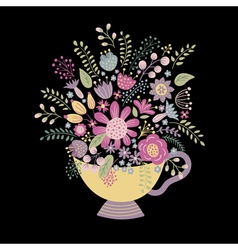 Cup on a dark background vector