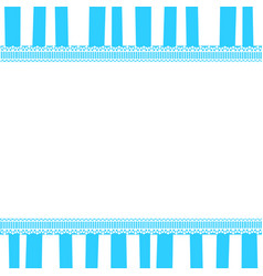 Cute baby boy template with copy space on blue vector
