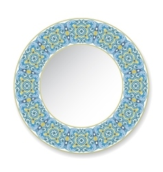decorative plate with circular pattern vector image