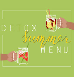 detox summer menu vector image
