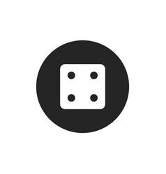 dice number four icon vector image