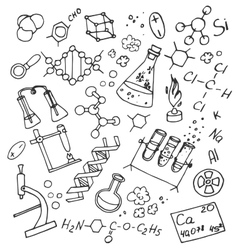 Doodle chemistry vector