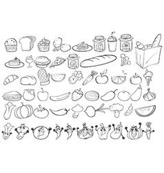 Doodles food vector image