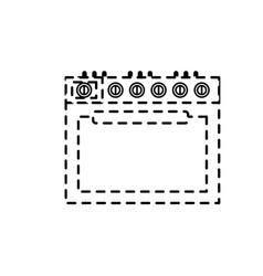 Dotted shape stove technology kitchen utensil vector