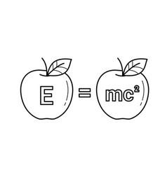 e equal mc 2 line icon vector image