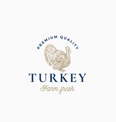farm turkey abstract sign symbol or logo vector image