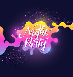fashion poster night party in abstract style vector image