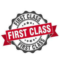first class stamp sign seal vector image