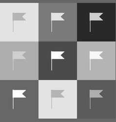 flag sign grayscale version vector image
