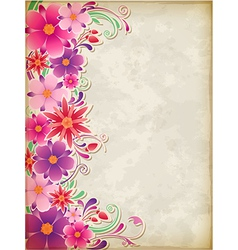 Floral background pink vector