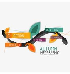 Floral swirl autumn infographic report minimal vector
