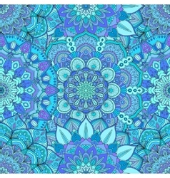 Flower pattern intricate blue vector