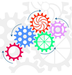 Gear relationship for business concepts vector