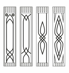 gothic pilasters vector image