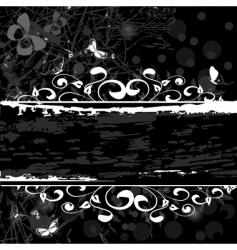 grunge pattern banner vector image