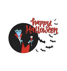 happy halloween poster - modern cartoon character vector image