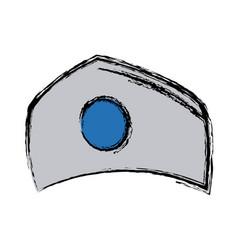 Hat nurse accessory uniform medical vector