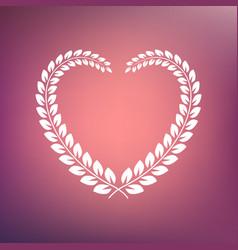 Heart shape wreath vector