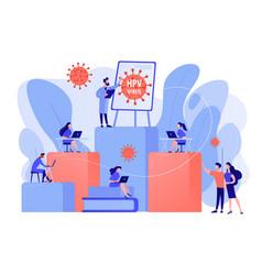 hpv education programs concept vector image