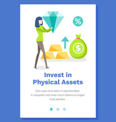 Investing in physical assets concept woman vector