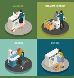 laundry 2x2 design concept vector image