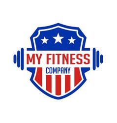 logo my fitness academy vector image