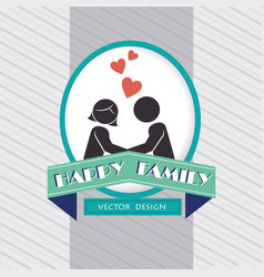 lovers couple with ribbon silhouette characters vector image