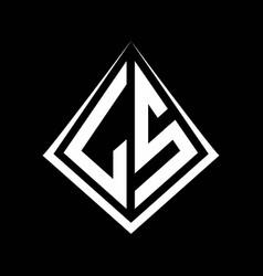 Ls logo letters monogram with prisma shape design vector