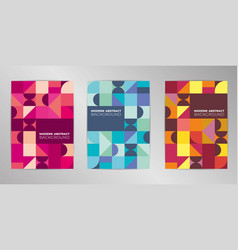 Modern colorful cover design background set a4 vector