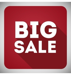 Poster Big sale flat icon with shadow vector