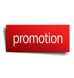 promotion red paper sign on white background vector image