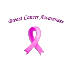 Ribbon Breast Cancer on vector image