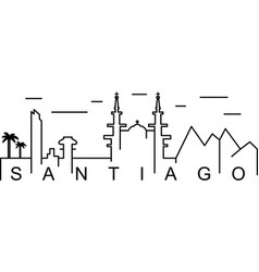 Santiago outline icon can be used for web logo vector