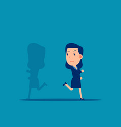 shadow running different way business direction vector image