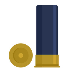 Shotgun cartridge shell icon flat style vector