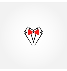 Suit logo design template Gentleman vector