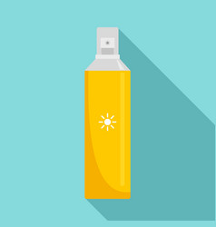 Sun block spray icon flat style vector
