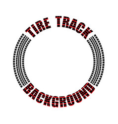 tire track red text circle vector image