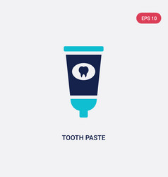 Two color tooth paste icon from hygiene concept vector
