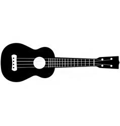 ukulele silhouette vector image