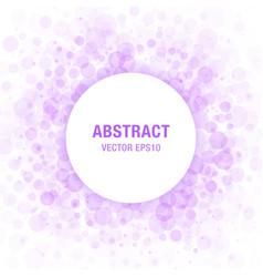 Violet Abstract Circle Frame Design Element vector image