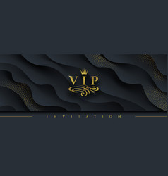 vip invitation template vector image